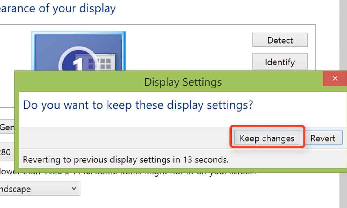 display settings how to check laptop resolution