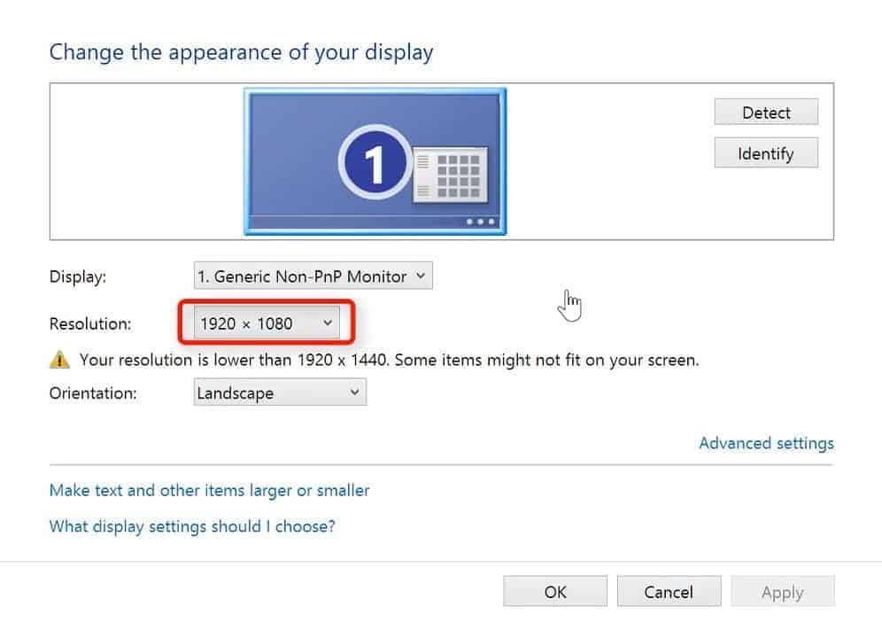 monitor resolution how to check laptop resolution