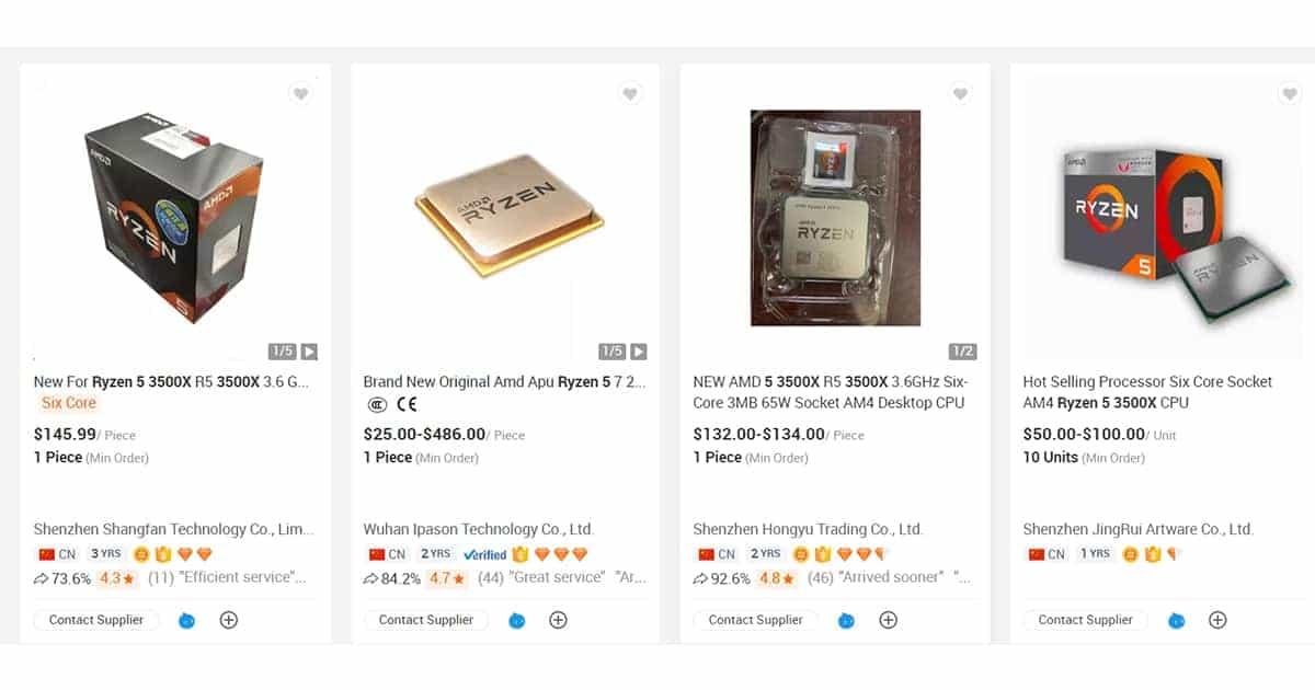 Ryzen 5 3500X Listing