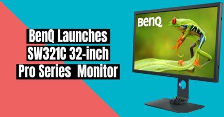 BenQ Launches SW321C Pro Series