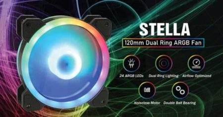 GELID STELLA ARGB Dual-Ring Fans - An alternative cheaper ARGB fan