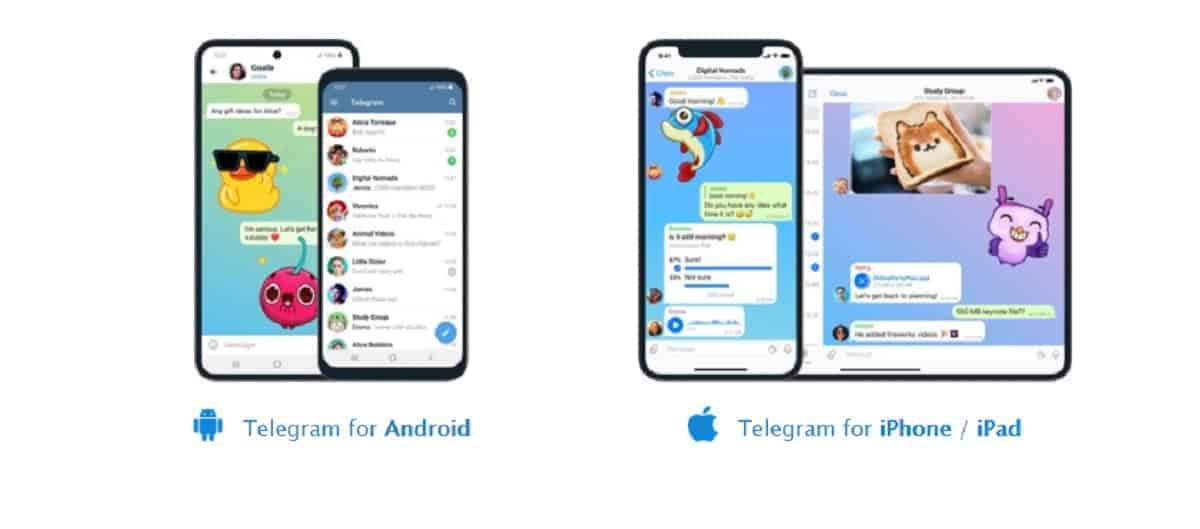 Telegram from Android and ios