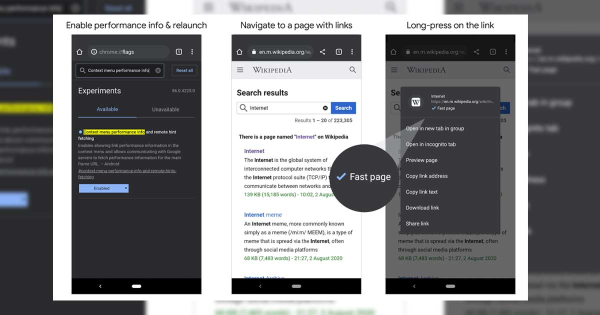 chrome fast page labels launch