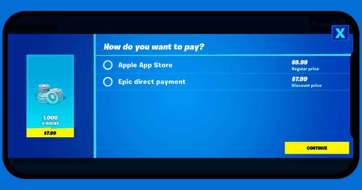 Fortnite new payment method
