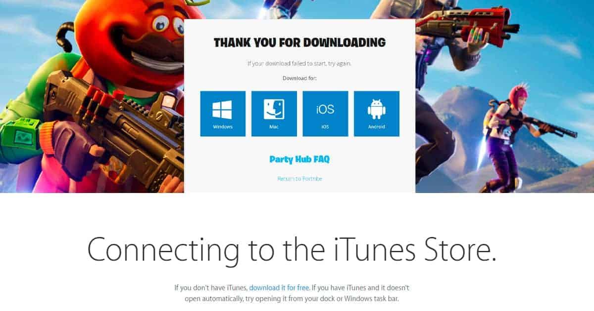 Epic vs. Apple Fortnite Download