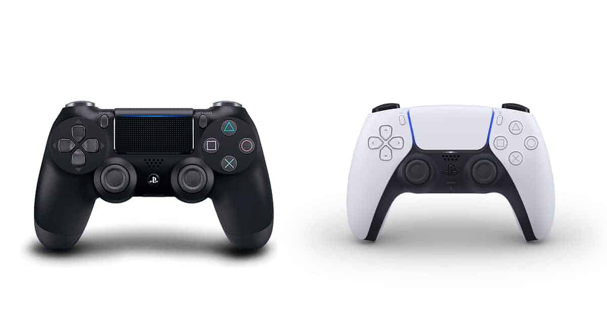 PS4 and PS5 controllers
