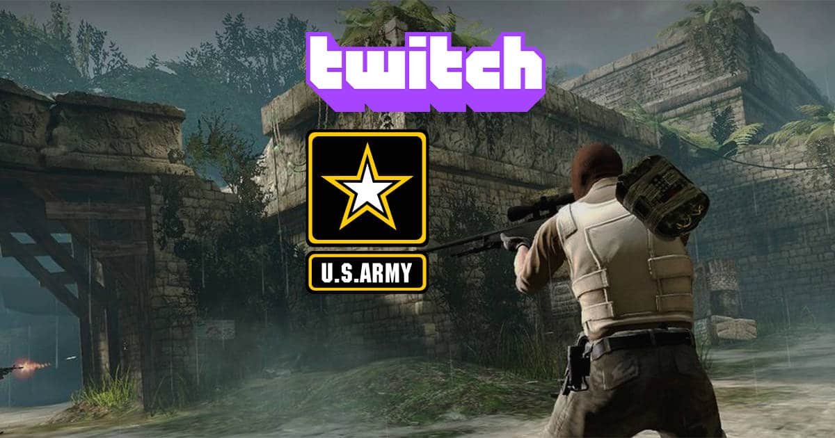 Us Army Recruits young gamers on Twitch