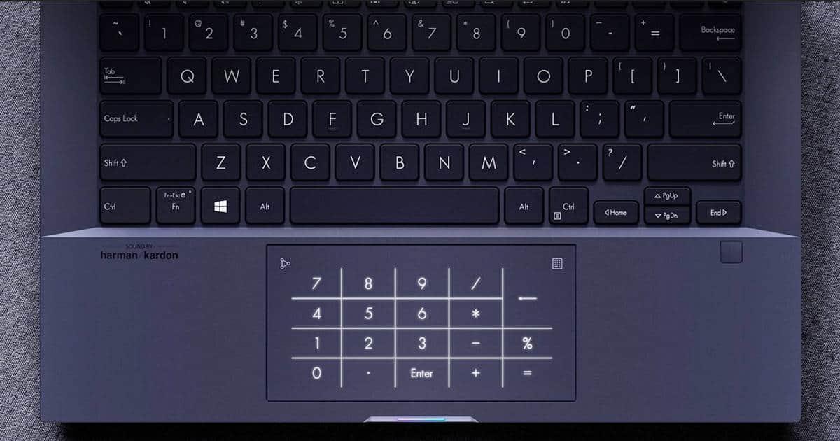 Asus ExpertBook B9450 keyboard