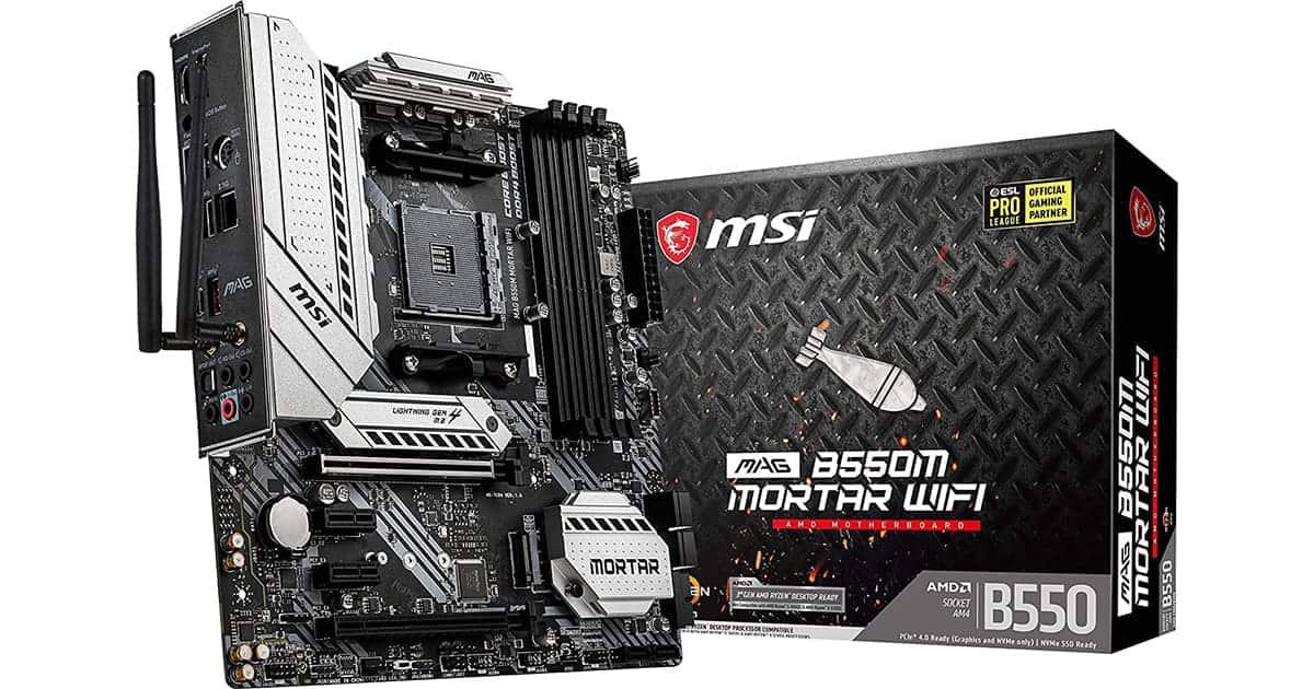 Best B550 Motherboard - MSI MAG B550 Mortar WiFi