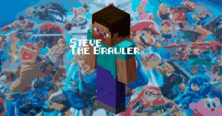 Super Smash Bros Ultimate meets block-building Minecraft fighters!