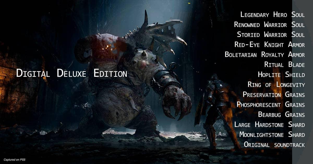 Demon's Souls Remake Digital Deluxe Edition.