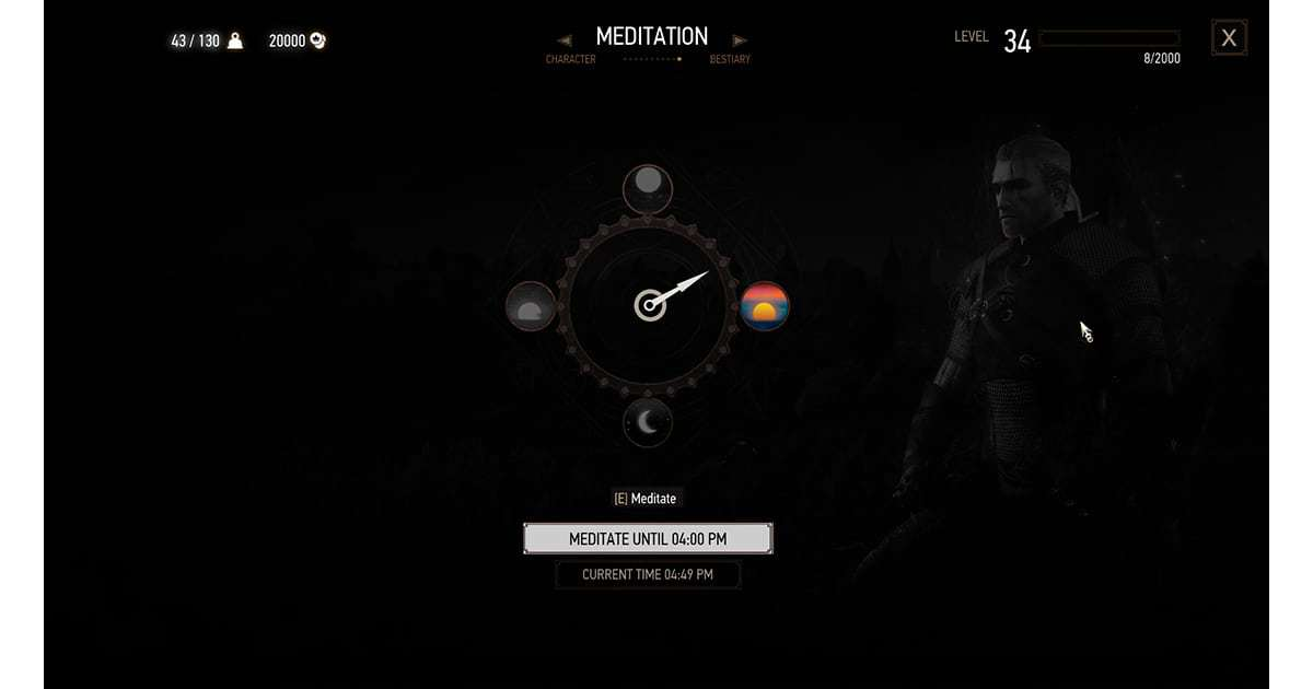 The witcher 3 meditation