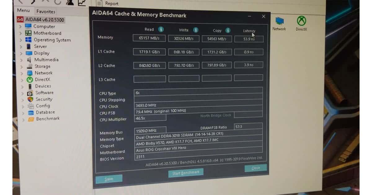 AIDA64 Ryzen 5600X