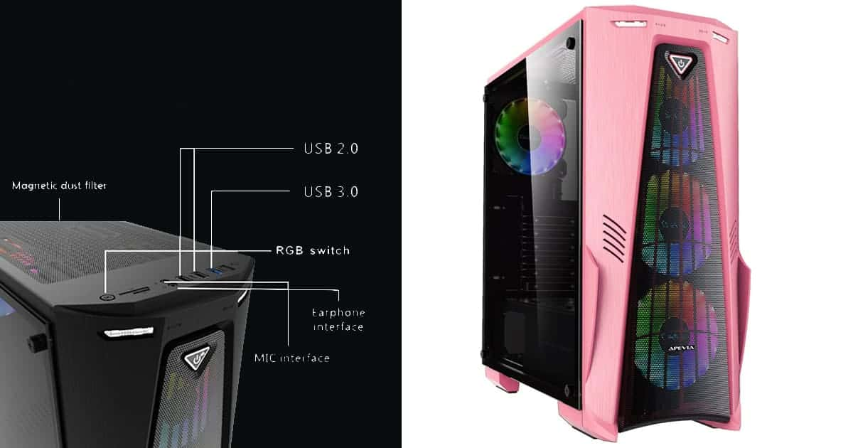 Apevia Crusader-F-PK-Best budget Pink PC Case