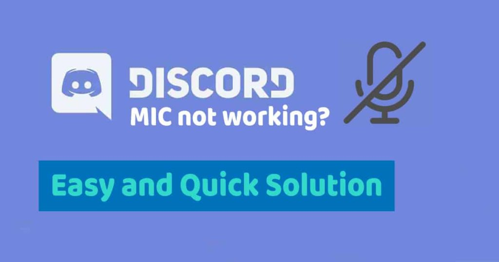 Discord mic not working solution