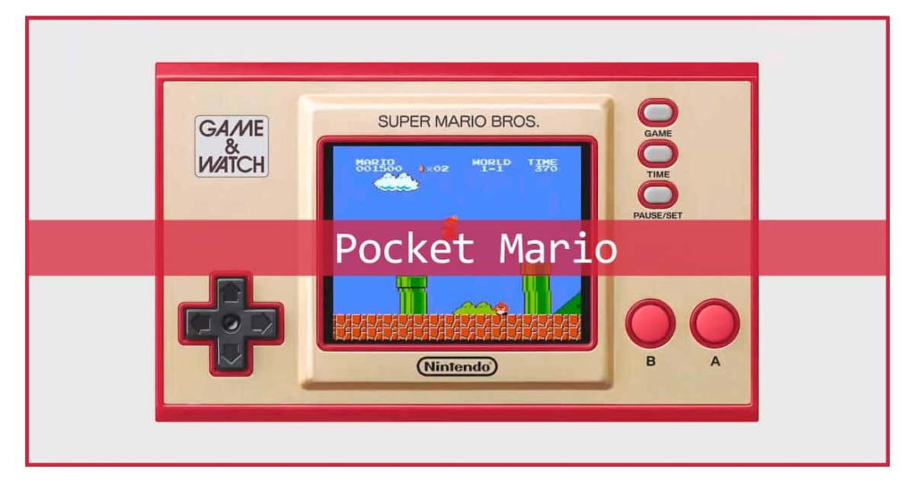 Nintendo Game Watch handheld console hints the companys plans