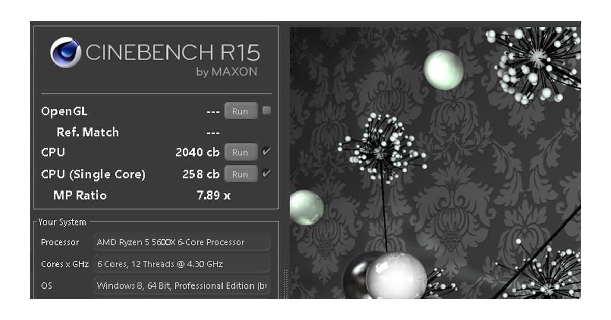 Ryzen 5600X Cinebench R15