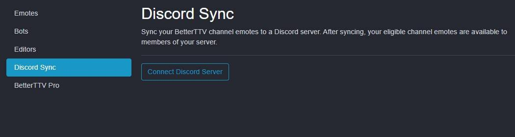 Go to Connect Discord Server from the Dashboard