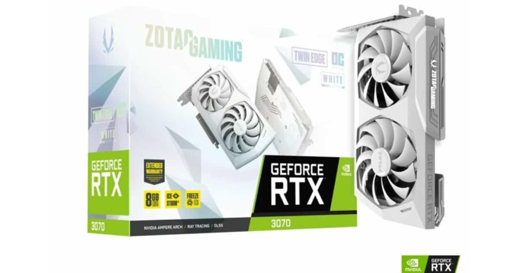 Zotac released a snow-white GeForce RTX 3070 Twin Edge OC Edition
