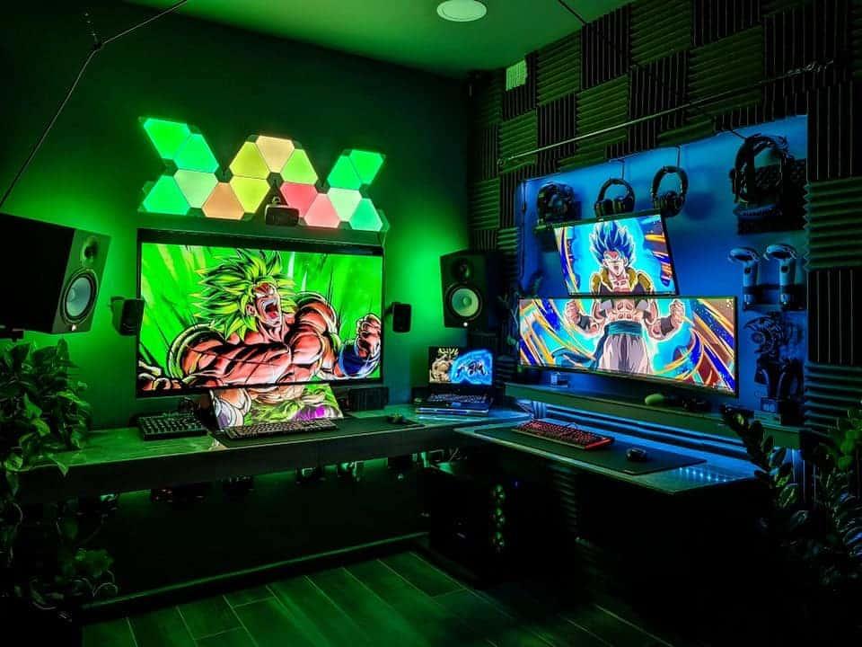 Anime gaming setup