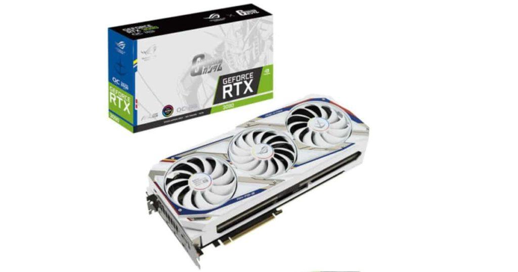 Asus ROG STRIX GeForce RTX 3090 GUNDAM Edition spotted online!!!