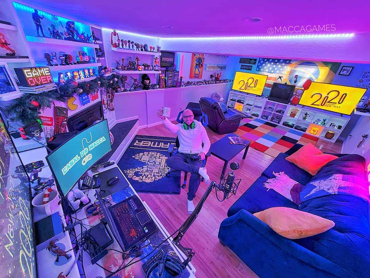 Expensive gaming setup