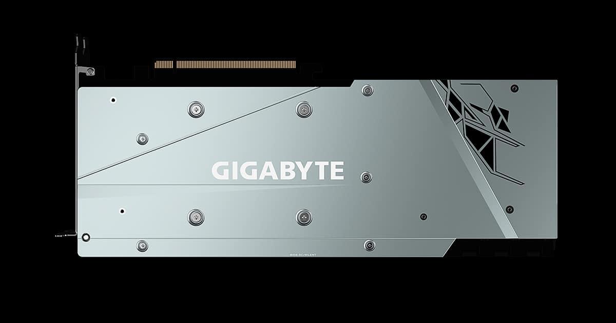 Gigabyte RX 6900XT Gaming OC backplate