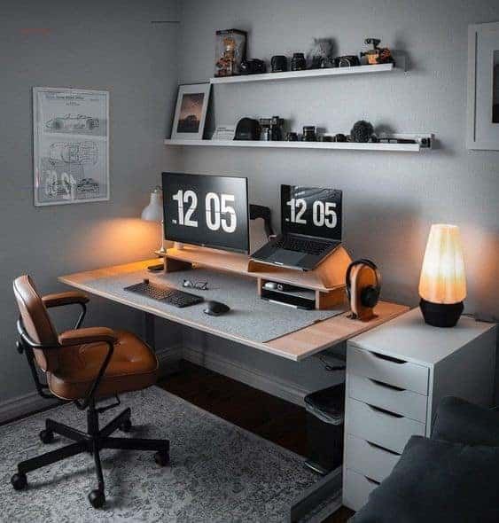 Laptop Warm Pc Case Setup Office