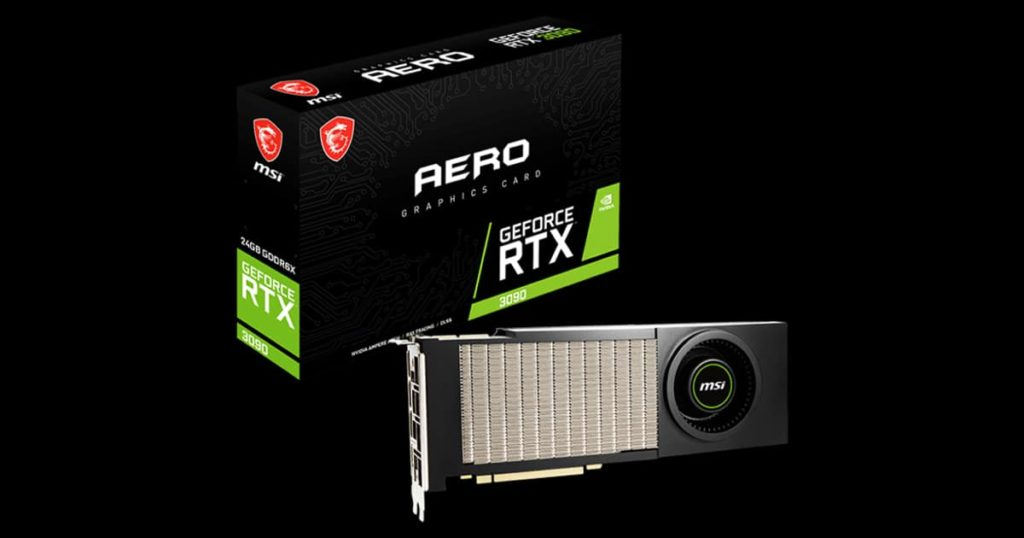 MSI GeForce RTX 3090 AERO - A blast from the past from the GTX 460