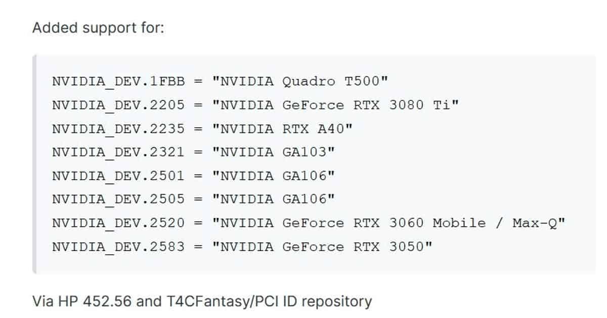 Nvidia RTX 3080 Ti HP driver