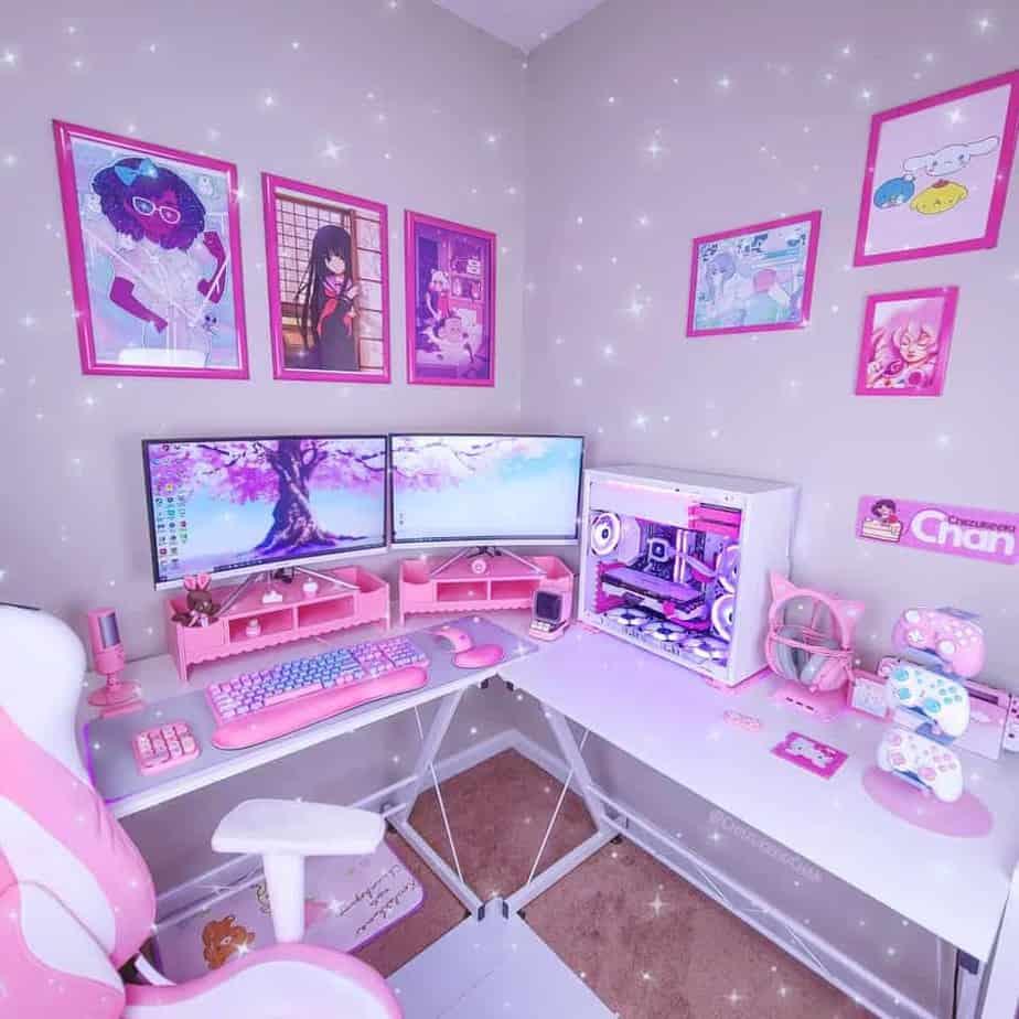 Pink PC Case Setup