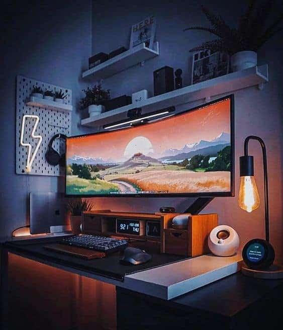 Warm gaming setup