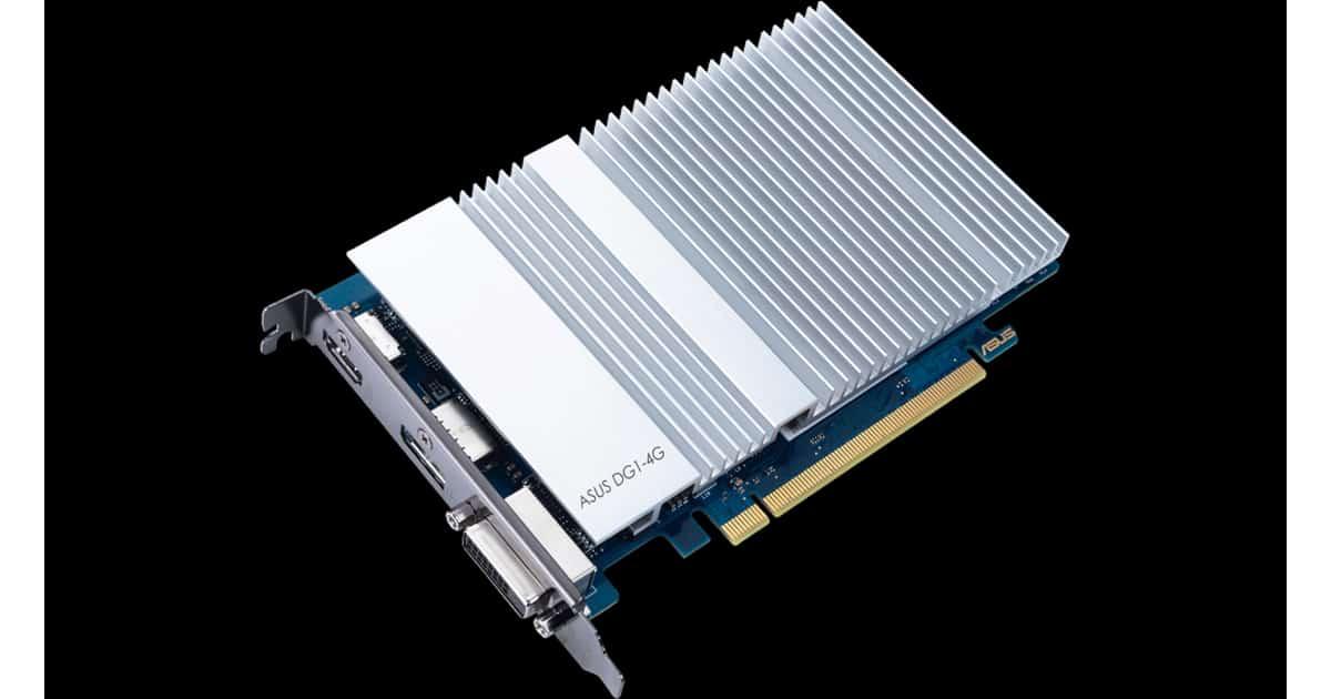 Asus fanless DG1 GPU