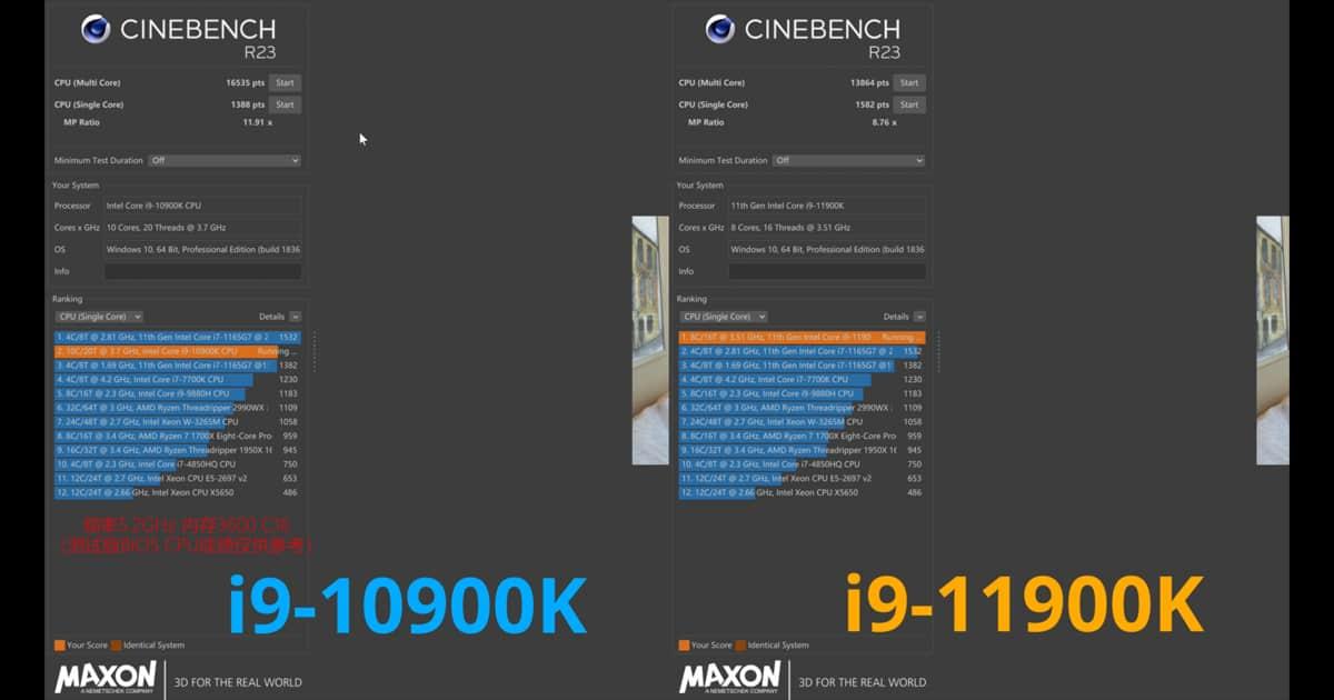 CinebenchR23 test