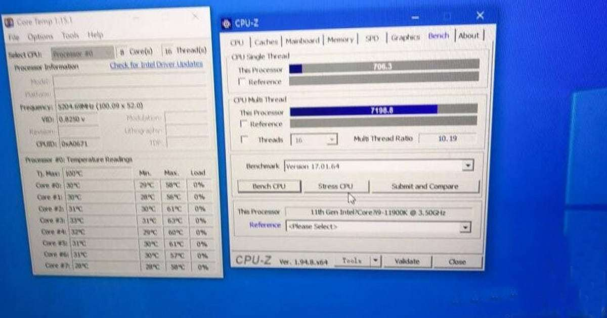 Core i9 11900K overclock performance