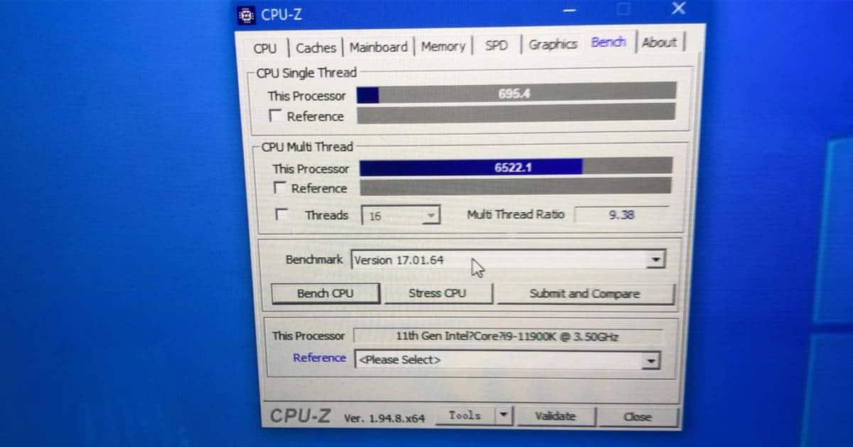 C re i9 11900K performance