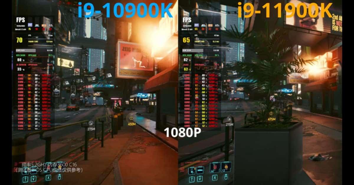 Cyberpunk 2077 bench