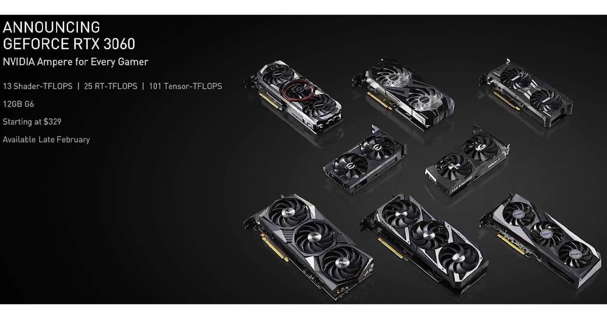 Nvidia annoucement RTX3060