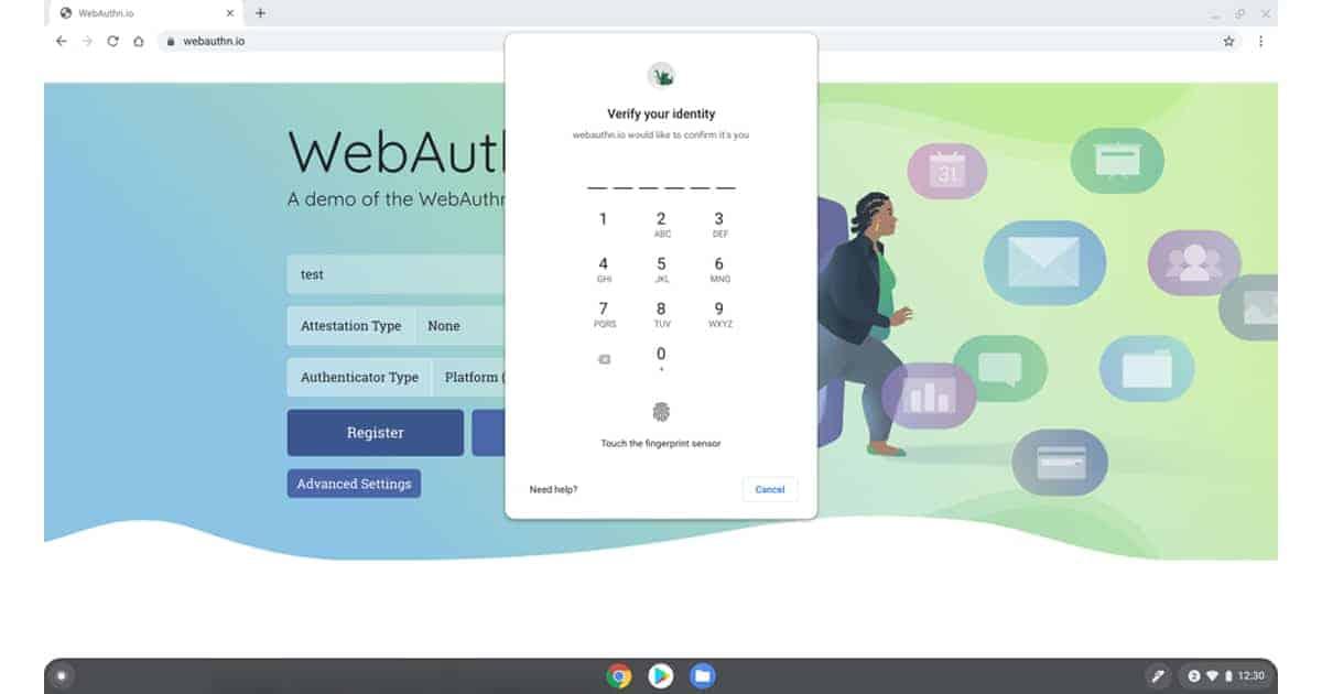 web aunthentication & universal PIN system