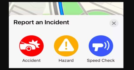Accident reporting feature now available on Apple Maps too!