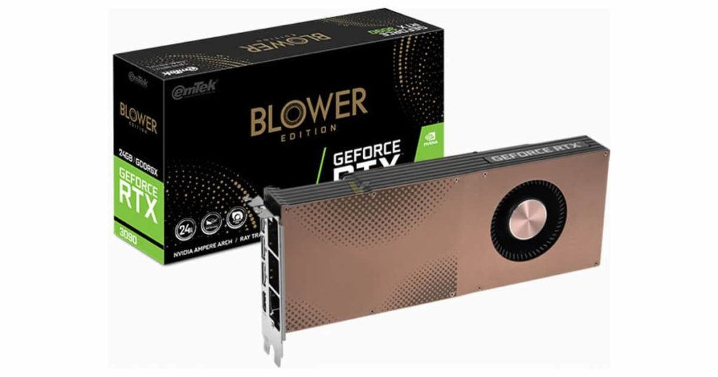 Emtek introduces the RTX 3090 Blower with a custom daughterboard specially for power