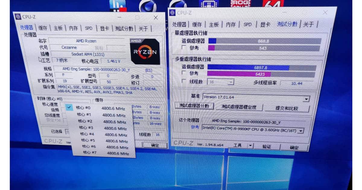Ryzen 7 5750G CPU ZBenchmark