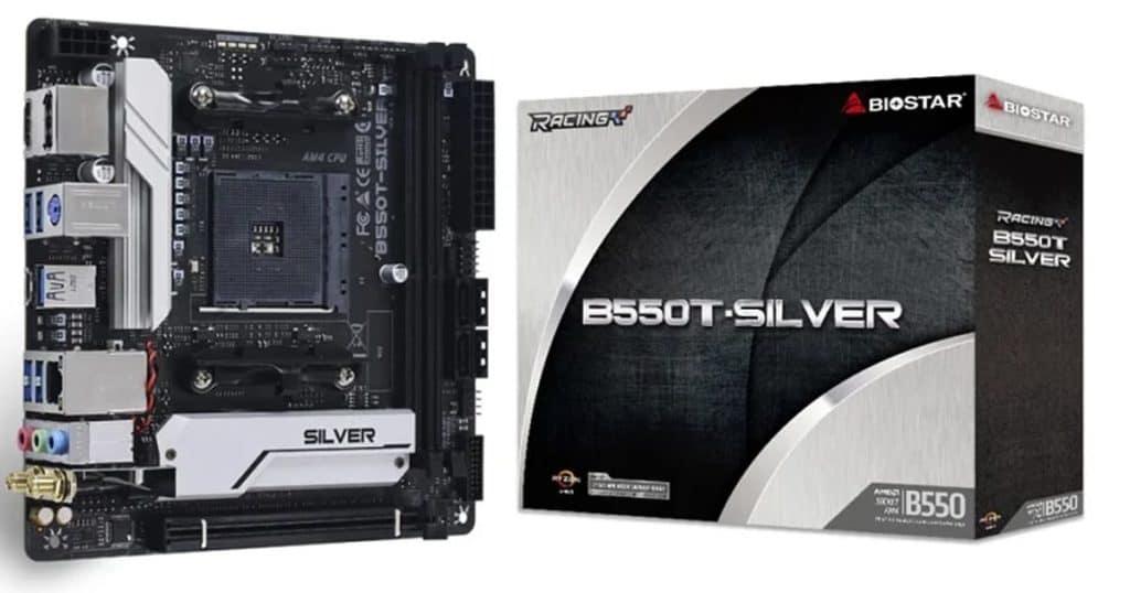 Biostar teases the its B550T Silver mini-ITX motherboard