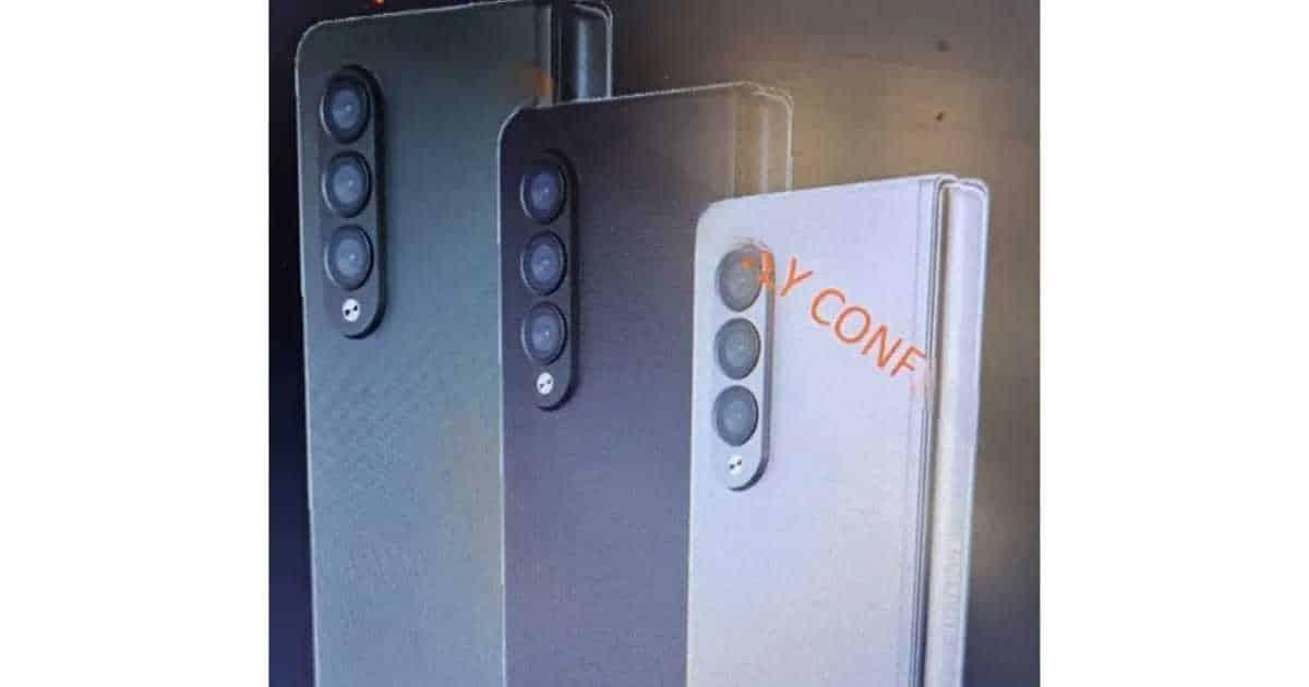 Samsung Z Fold 3 backcamera leak