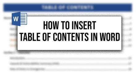 How To Insert Table Of Contents In Word