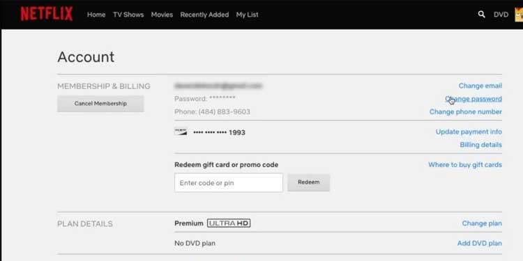 Acount Settings- Delete your Netflix Account