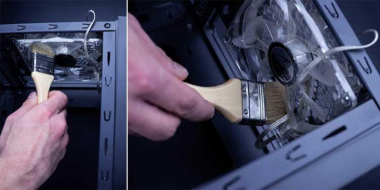 Clean CPU heatsink & fan