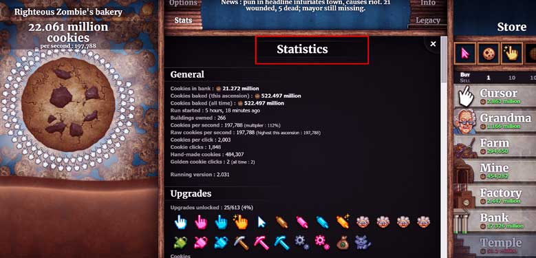 Cookie Clicker Stats