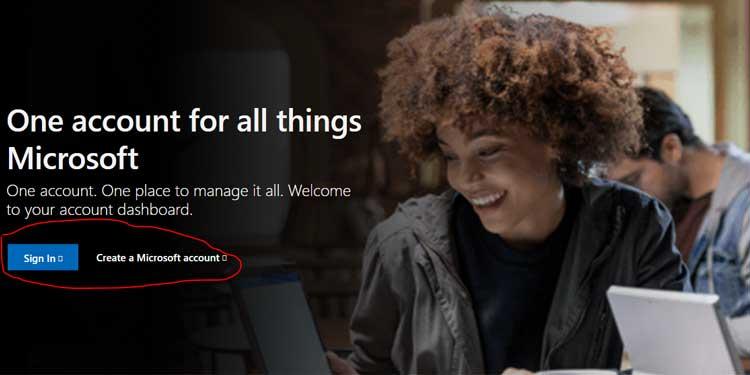 Create a Microsoft Account