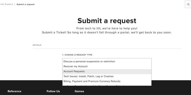 Data Request Ticket